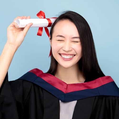畢業相粉藍樣本